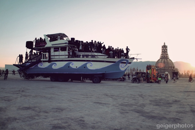 Burning Man Boat