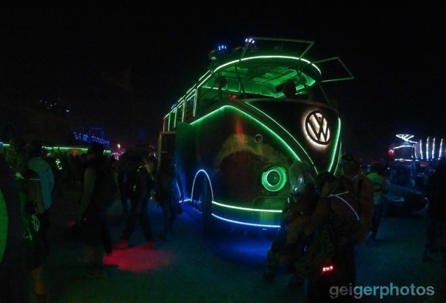 VW Bully Burning Man